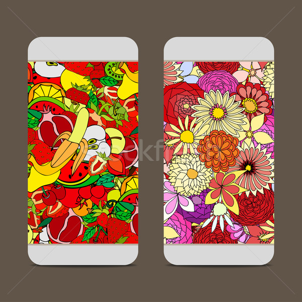 Fruit and Flower Pattern Stock photo © frescomovie