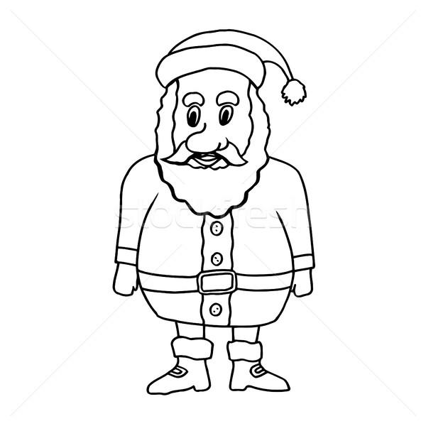 Karikatur Klausel Weihnachten Gruß Karten Stock foto © frescomovie