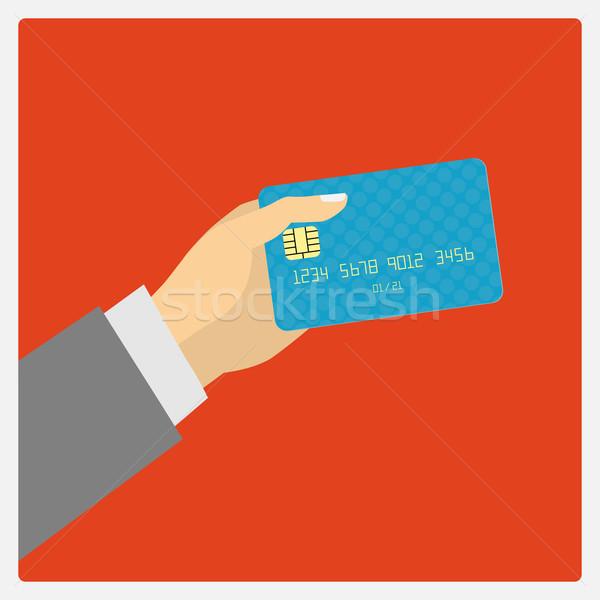 Hand hold credit card Stock photo © frescomovie