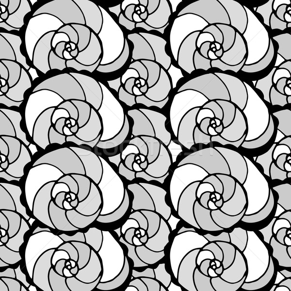 Stock photo: pattern with shells