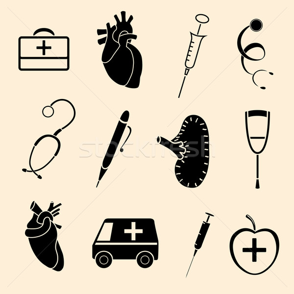 human organs icons Stock photo © frescomovie