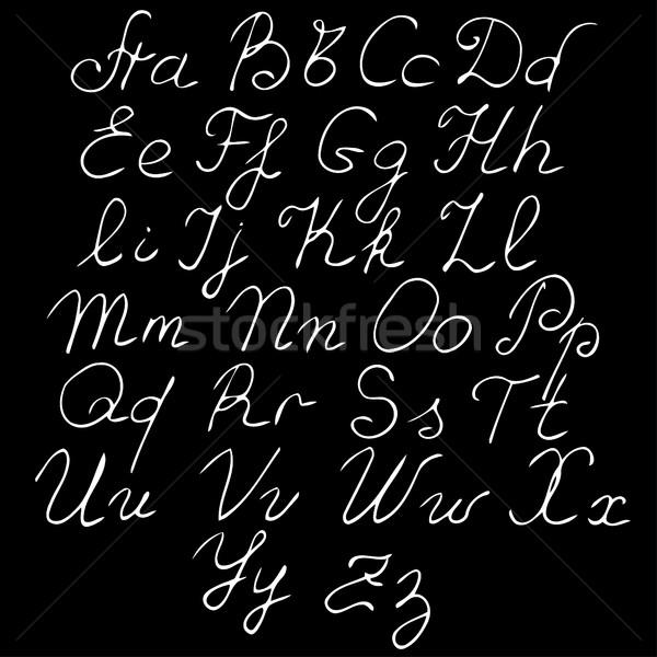 vector real hand Alphabet Stock photo © frescomovie