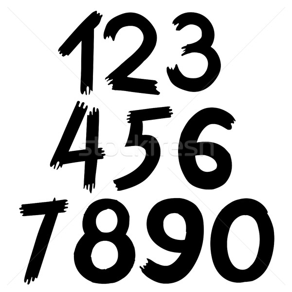 vector of digital number Stock photo © frescomovie