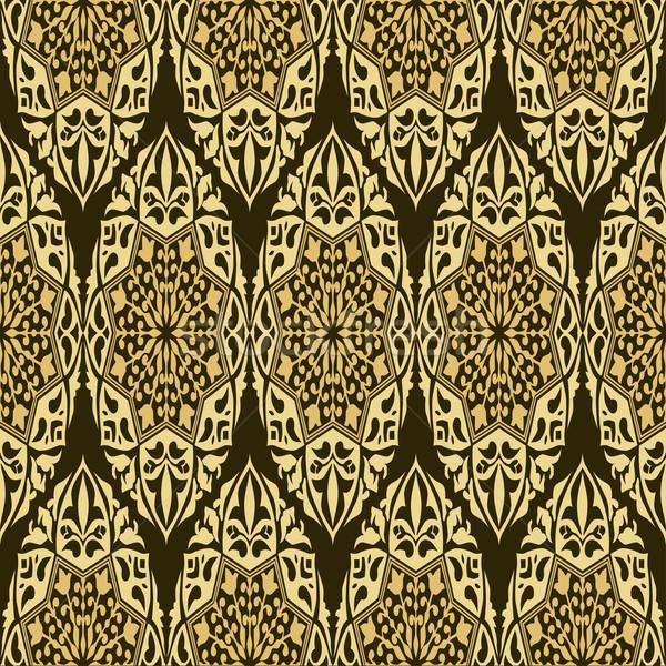Abstract behang naadloos retro ontwerp goud Stockfoto © frescomovie