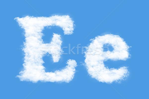 Levél felhők forma e betű égbolt füst Stock fotó © frescomovie