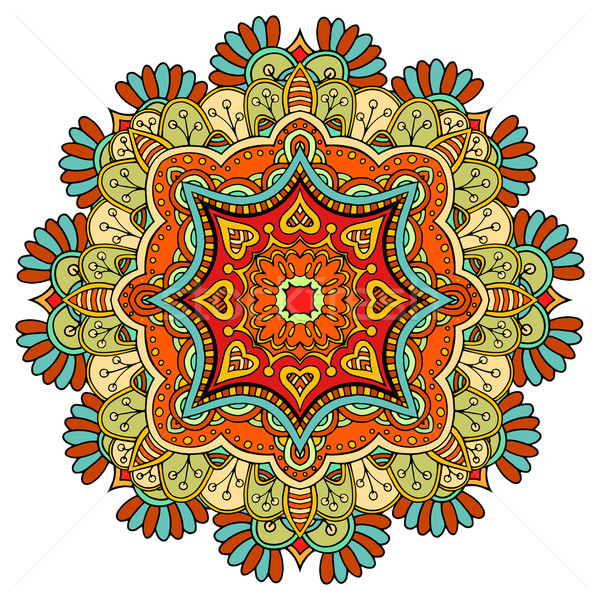 Mandala ornament Tribal etnische patroon arabisch Stockfoto © frescomovie