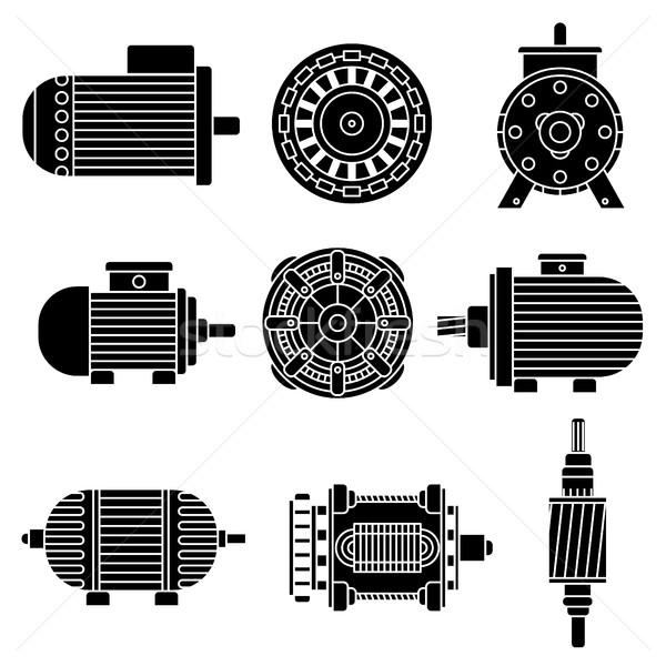 Electric motor vector icons Stock photo © frescomovie