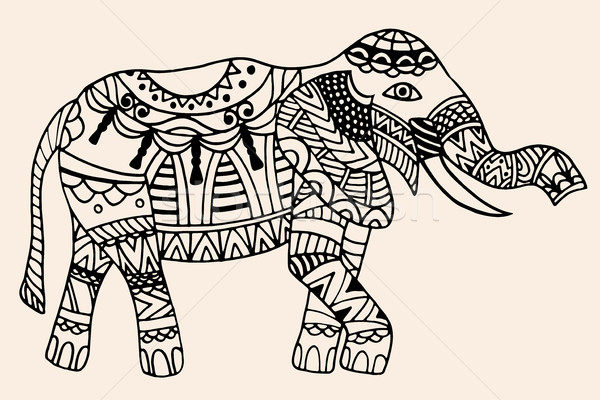 decorated Indian Elephant Stock photo © frescomovie