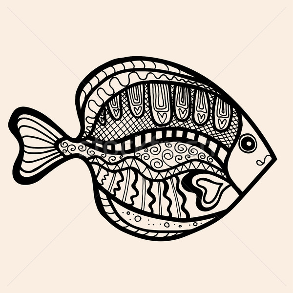 ornamental graphic fish Stock photo © frescomovie