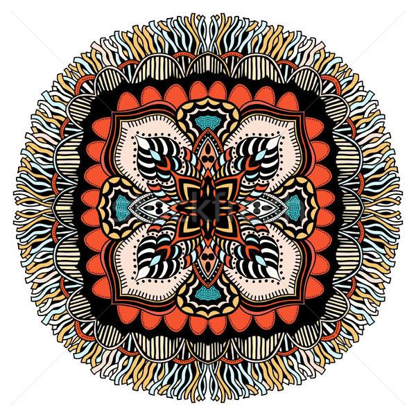Ozdoba kolor karty mandala vintage dekoracyjny Zdjęcia stock © frescomovie