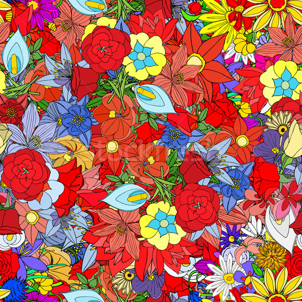 flowers, seamless pattern Stock photo © frescomovie