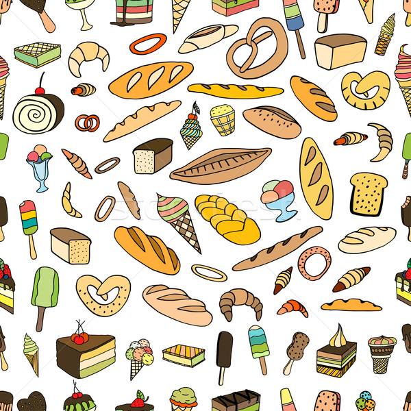Сток-фото: мороженого · хлеб · торт · вектора · болван