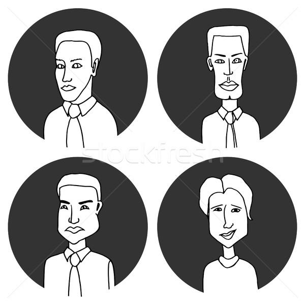 Sketch people icons. Stock photo © frescomovie
