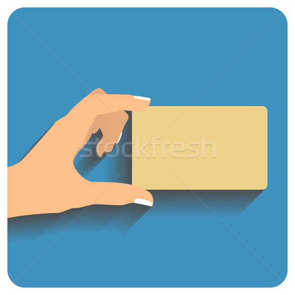 Hand holding credit card Stock photo © frescomovie