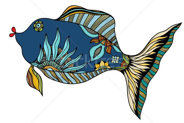 Zentangle stylized Fish Stock photo © frescomovie