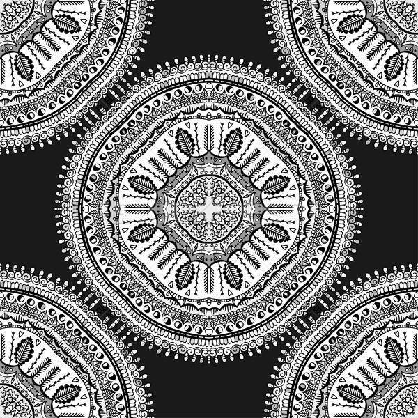 Naadloos elegante patroon witte kant gedetailleerd Stockfoto © frescomovie
