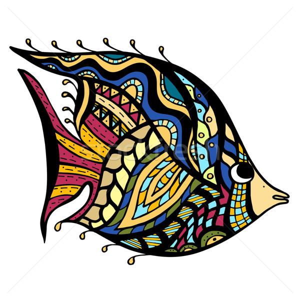 Zentangle Fish Stock photo © frescomovie