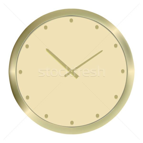 Golden clock Stock photo © frescomovie