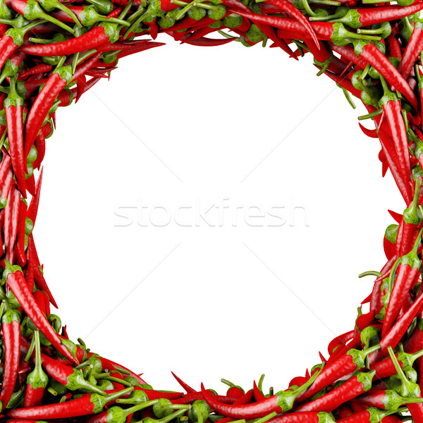 Frame made of Chili Pepper. Stock photo © frescomovie