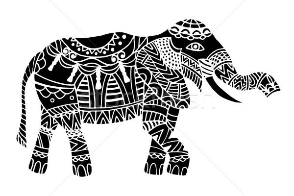 Black ethnic elephant.  Stock photo © frescomovie