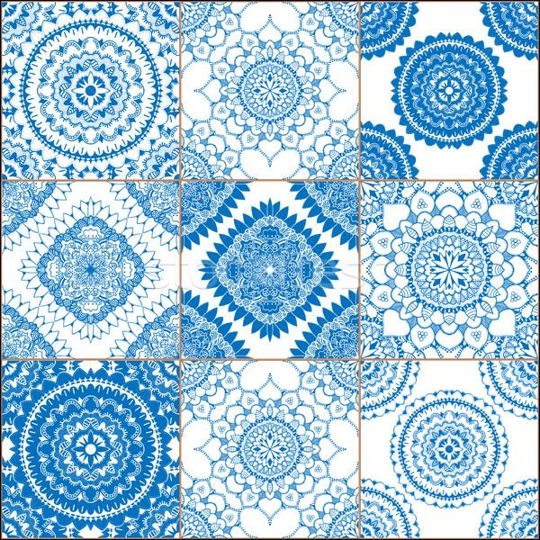 Victorian Tile in vector Stock photo © frescomovie