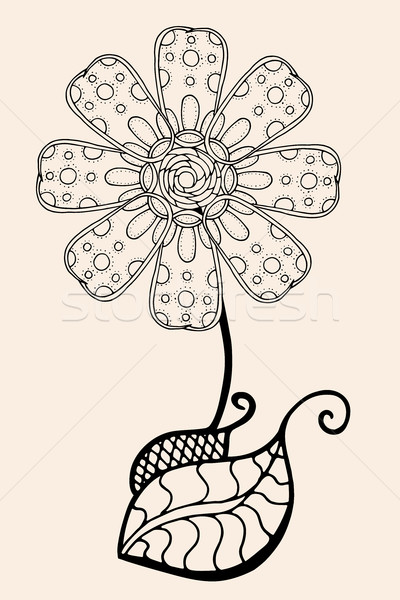 Stock photo: Sketch of abstract flower