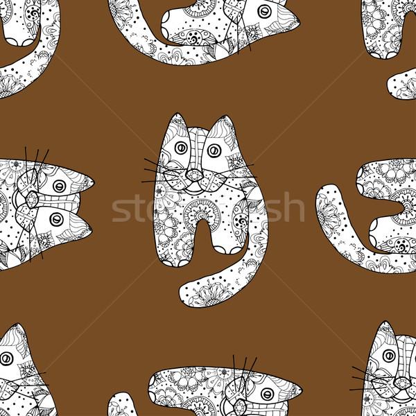 Seamless pattern od cats Stock photo © frescomovie