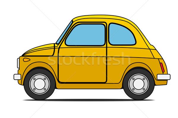 Yellow car.  Stock photo © frescomovie