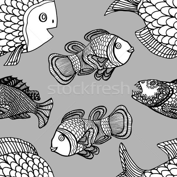 pattern fish Stock photo © frescomovie
