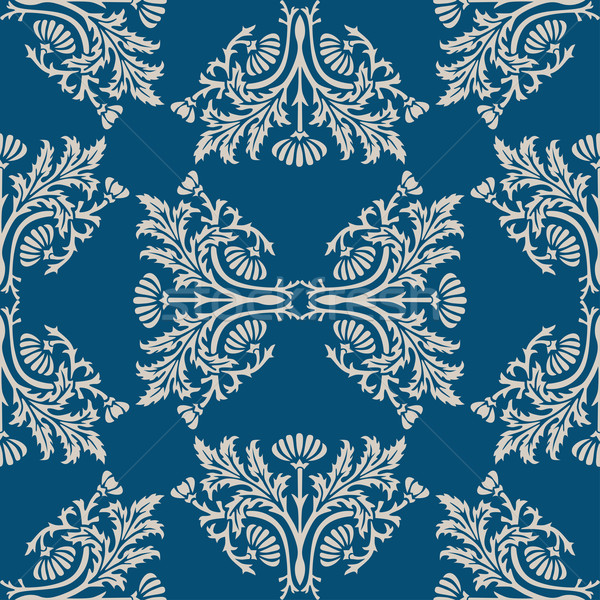 Abstrakten Tapete Retro Design blau Stock foto © frescomovie