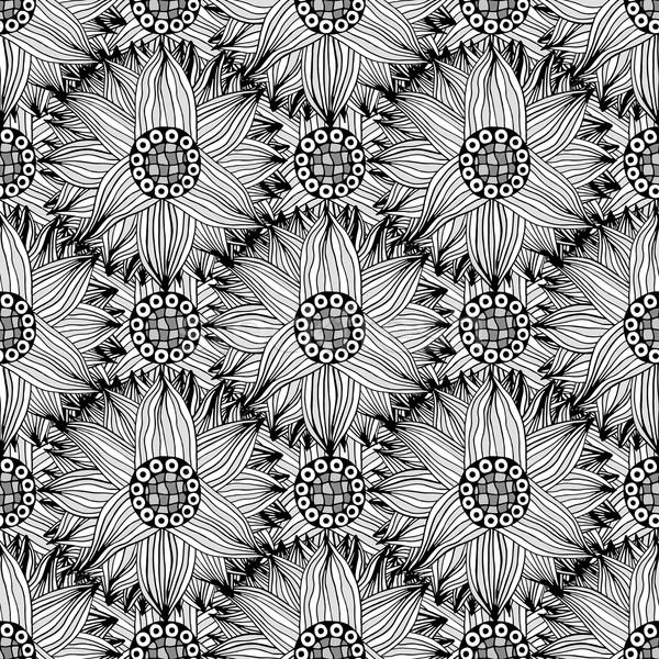 Padrão abstrato flores preto e branco árvore Foto stock © frescomovie