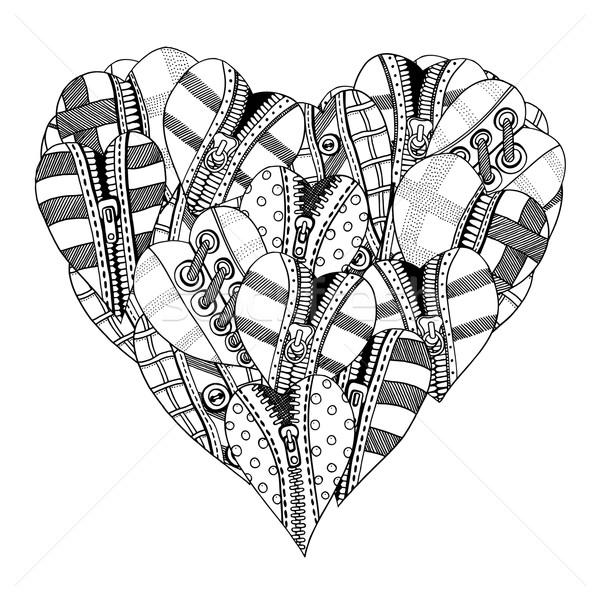 Kalp Büyük Küçük Kalpler Sevgililer Günü Vektör