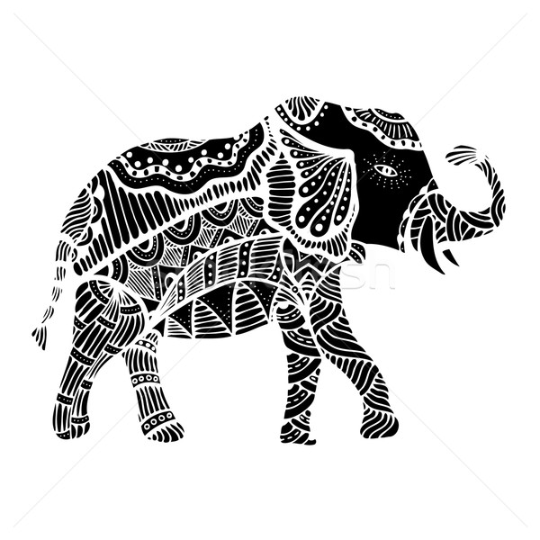 Black Indian elephant.  Stock photo © frescomovie