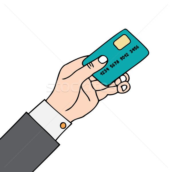 стороны карт белый бумаги Финансы связи Сток-фото © frescomovie