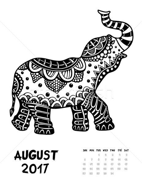 2017 calendar page of month Stock photo © frescomovie
