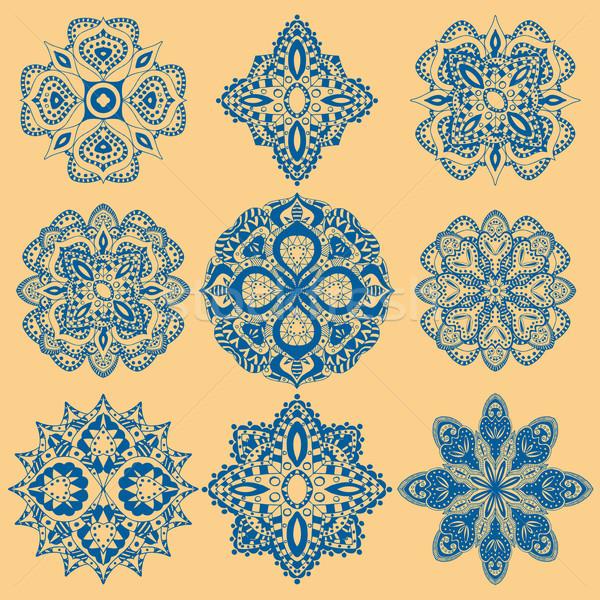 geometric ornaments set Stock photo © frescomovie