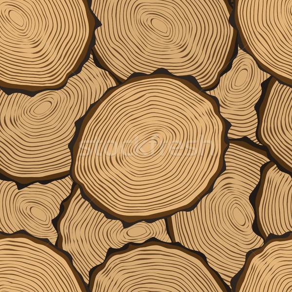 Gesneden butt boom ringen vector Stockfoto © frescomovie