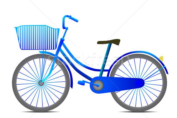 велосипед ретро-стиле черный изолированный белый свет Сток-фото © frescomovie