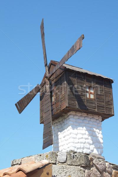 wooden windmill Stock photo © frescomovie