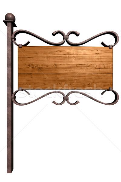 Old wooden signboard Stock photo © frescomovie