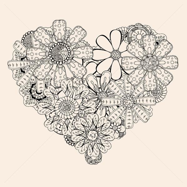 heart shape pattern Stock photo © frescomovie