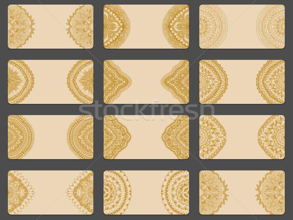 Empty cards for Calendar Stock photo © frescomovie