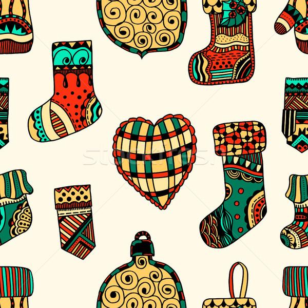 Natal decorativo elementos vetor Foto stock © frescomovie