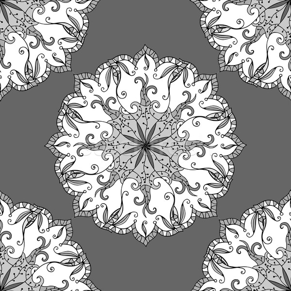 Vector doodle mandala indian Stockfoto © frescomovie