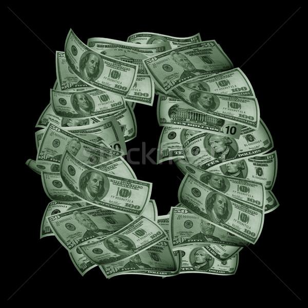 Alfabet dollar USA geïsoleerd zwarte brief Stockfoto © frescomovie