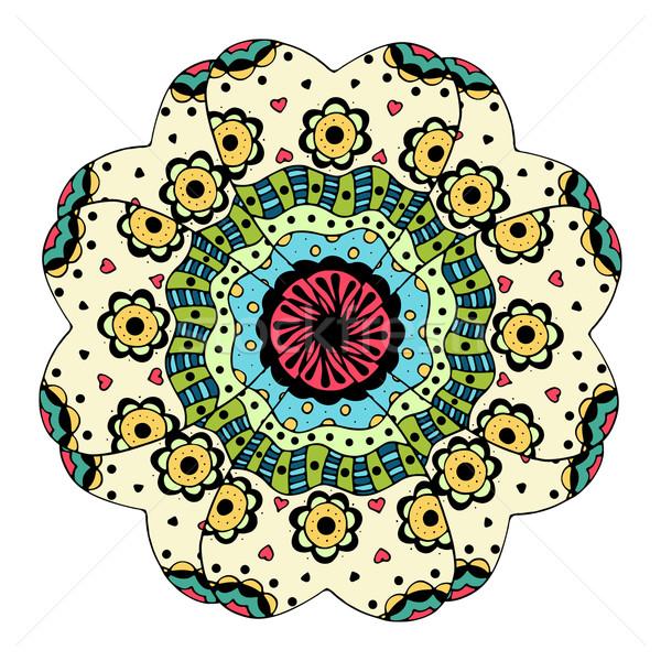 Piękna kolorowy mandala wektora etnicznych Zdjęcia stock © frescomovie
