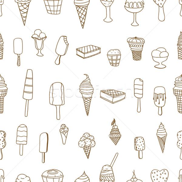 ice creams seamless pattern Stock photo © frescomovie