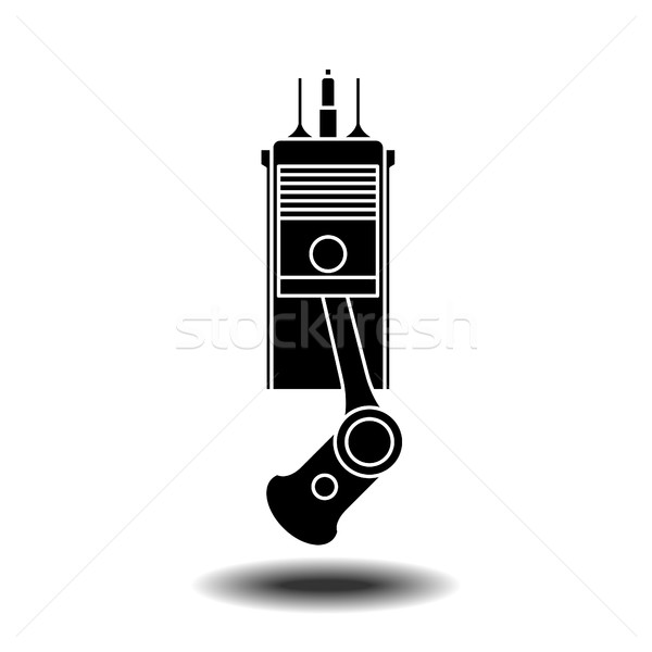 Intern verbranding motor element vector icon Stockfoto © frescomovie