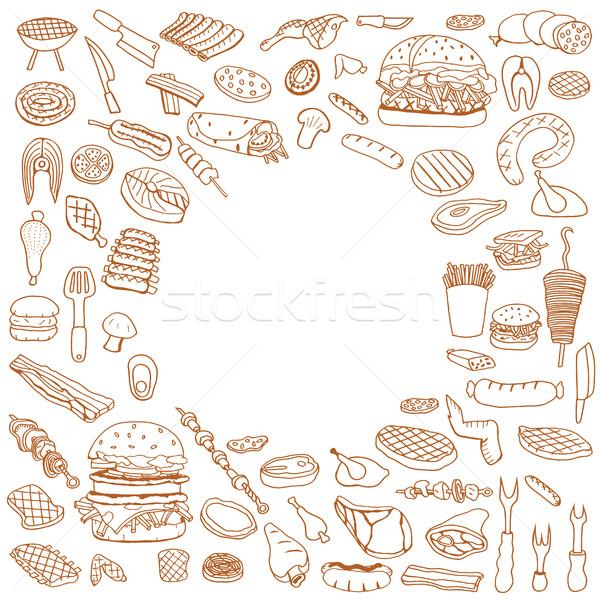 Rabisco churrasco festa verão Foto stock © frescomovie