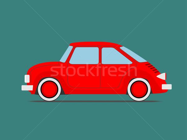 Sport autó piros izolált zöld kép Stock fotó © frescomovie